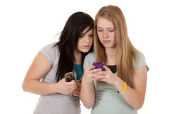 Texting Teens With Phones Stock Photo