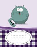 Textkarte mit fetter Katze Lizenzfreie Stockbilder
