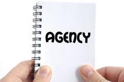 Textkonzept der Agentur nur Lizenzfreie Stockfotografie