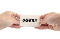 Textkonzept der Agentur nur Lizenzfreies Stockbild