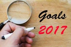 Textkonzept der Ziele 2017 Stockfoto