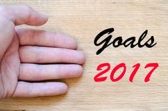 Textkonzept der Ziele 2017 Stockbild