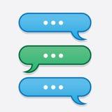 Textmeddelandet bubblar fram och tillbaka Arkivfoto