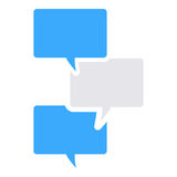 Textnachrichtikone Stockbilder