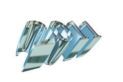 Texto 2011 del Año Nuevo Imágenes de archivo libres de regalías