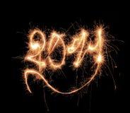 Texto 2011 do Sparkler Fotos de Stock Royalty Free