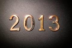 texto 2013 del oro Imágenes de archivo libres de regalías