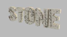 Texto 3D de pedra Fotos de Stock