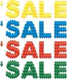 Texto 4 das vendas em 1 Fotos de Stock Royalty Free