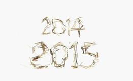 2014-2015 texto Imagens de Stock Royalty Free