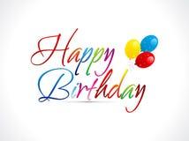 Texto abstracto del feliz cumpleaños Foto de archivo
