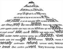 Texto abstrato Fotos de Stock