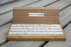 Texto alemán: Pisa-Studie Fotos de archivo