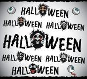 Texto asustadizo del diseño de Halloween del horror stock de ilustración