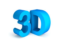 Texto azul 3D aislado en el fondo blanco Imágenes de archivo libres de regalías