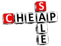 texto barato das palavras cruzadas da venda 3D Fotografia de Stock