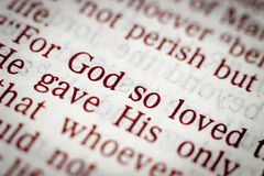 Texto bíblico Fotografía de archivo