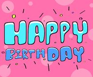 Texto Birthday Imagem de Stock Royalty Free
