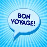 Texto Bon Voyage de la escritura de la palabra Concepto del negocio para los buenos deseos expresos usados alguien sobre sistema  ilustración del vector