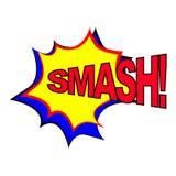 Texto cómico del discurso del chapoteo del discurso Icono sano del texto de la expresión del estilo del arte pop smash Vector libre illustration