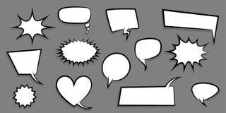Texto cómico del sistema de la burbuja vacía grande del discurso Imagen de archivo