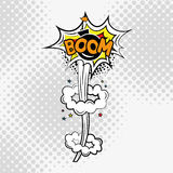 Texto cómico, estilo del arte pop auge stock de ilustración