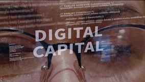 Texto capital de Digitaces en el fondo del desarrollador stock de ilustración