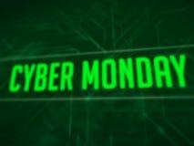 Texto cibernético de lunes en la pantalla verde ilustración del vector