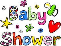 Texto Clipart dos desenhos animados da festa do bebê Imagem de Stock Royalty Free
