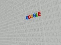 Texto colorido de 3d Google stock de ilustración