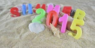 Texto colorido del verano 2015 Imagenes de archivo