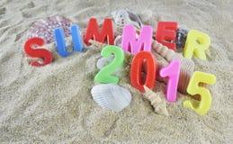 Texto colorido do verão 2015 Fotografia de Stock Royalty Free