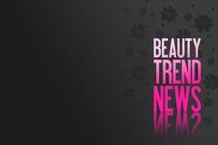 Texto cor-de-rosa para anunciar - apresentação do produto - a beleza Backgr Foto de Stock