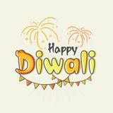 Texto creativo colorido para la celebración feliz de Diwali