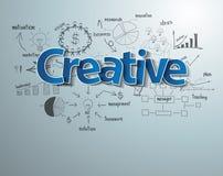 Texto creativo del vector con éxito empresarial del dibujo Imagenes de archivo