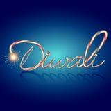 Texto criativo do diwali ilustração royalty free