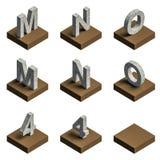texto 3d de aço no couro Foto de Stock Royalty Free