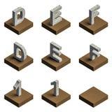 texto 3d de aço no couro Foto de Stock