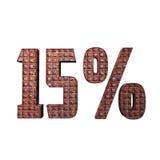 Texto 3D metálico de 15% Imagem de Stock