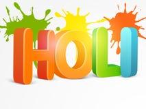 texto 3D para o festival indiano, celebração de Holi Fotografia de Stock Royalty Free