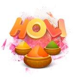texto 3D para o festival indiano, celebração de Holi Foto de Stock Royalty Free