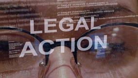 Texto da ação jurídica no fundo do colaborador fêmea filme