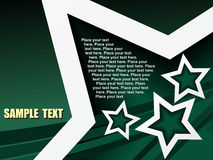 Texto da amostra da estrela Foto de Stock