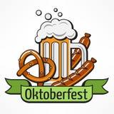 Texto da bandeira de Oktoberfest ilustração do vetor