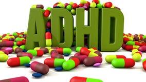 Texto da desordem 3d de ADHD Fotografia de Stock