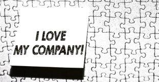 Texto da escrita da palavra mim Amor Meu Empresa Conceito do negócio para para dizer por que admirar seus trabalho e parte do loc foto de stock royalty free