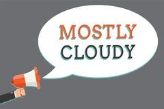 Texto da escrita da palavra na maior parte nebuloso Conceito do negócio para o homem nebuloso macio nevoento vaporoso sombrio de  ilustração do vetor