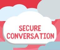 Texto da escrita que escreve a conversação segura O significado do conceito fixado cifrou uma comunicação entre serviços de Web ilustração stock