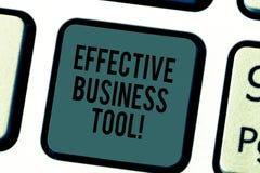 Texto da escrita que escreve a ferramenta eficaz do negócio Significado do conceito usado para controlar e melhorar processos de  foto de stock royalty free