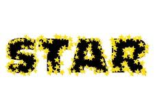 Texto da estrela Foto de Stock